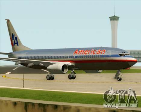 Boeing 737-800 American Airlines for GTA San Andreas side view