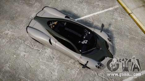 Pagani Huayra 2013 Carbon for GTA 4 right view