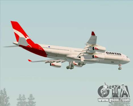 Airbus A340-300 Qantas for GTA San Andreas wheels