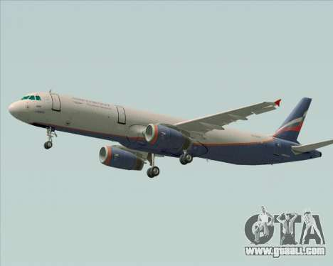 Airbus A321-200 Aeroflot - Russian Airlines for GTA San Andreas back left view