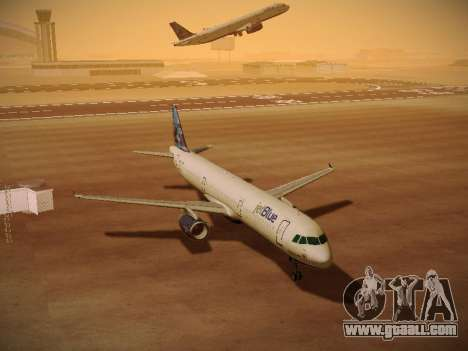 Airbus A321-232 jetBlue Do-be-do-be-blue for GTA San Andreas upper view