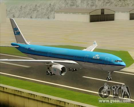 Airbus A330-200 KLM - Royal Dutch Airlines for GTA San Andreas inner view