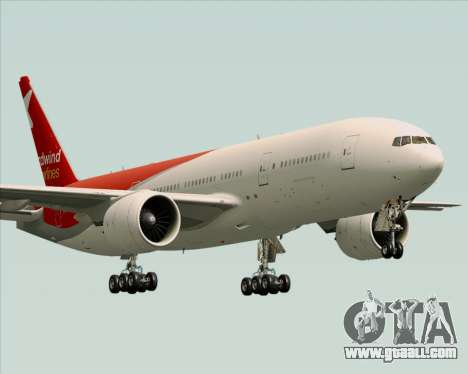 Boeing 777-21BER Nordwind Airlines for GTA San Andreas upper view