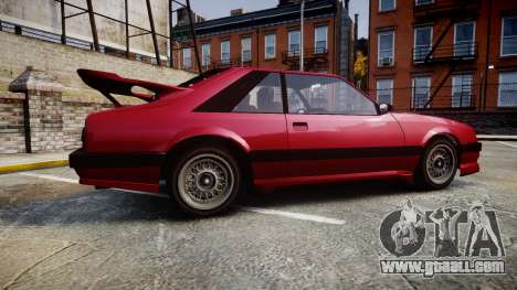 Vapid Uranus Custom for GTA 4 left view