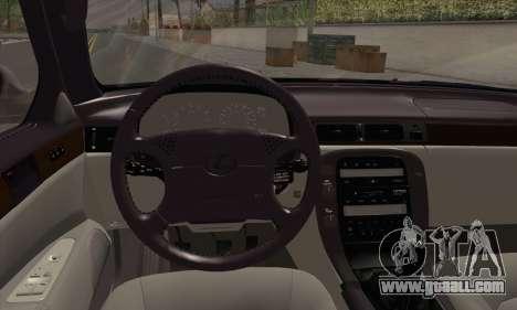 Lexus SC300 for GTA San Andreas back left view