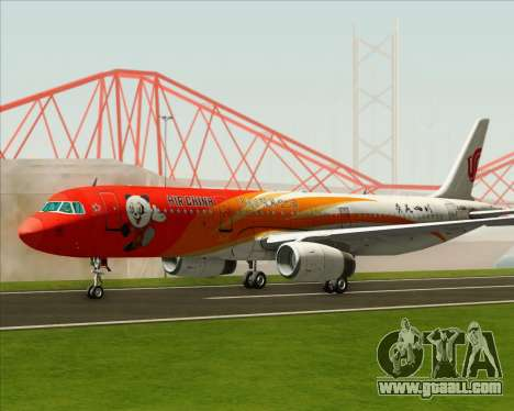 Airbus A321-200 Air China (Beautiful Sichuan) for GTA San Andreas back left view