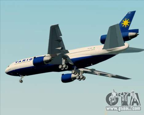 McDonnell Douglas DC-10-30 VARIG for GTA San Andreas side view