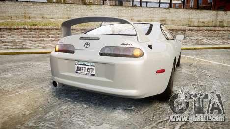 Toyota Supra for GTA 4 back left view