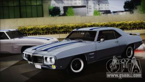 Pontiac Firebird Trans Am Coupe (2337) 1969 for GTA San Andreas
