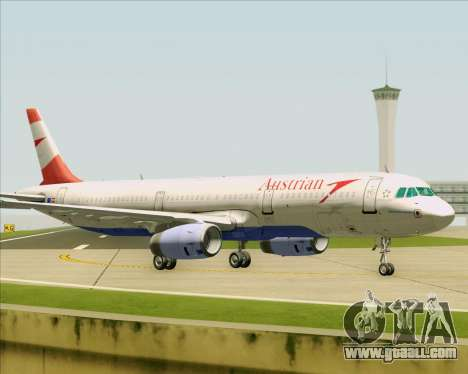 Airbus A321-200 Austrian Airlines for GTA San Andreas side view