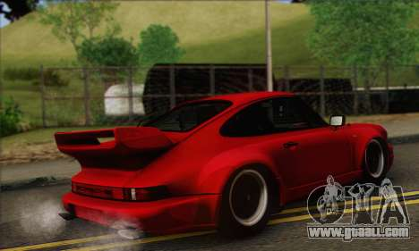 Porsche 930 Turbo Look 1985 Tunable for GTA San Andreas back view