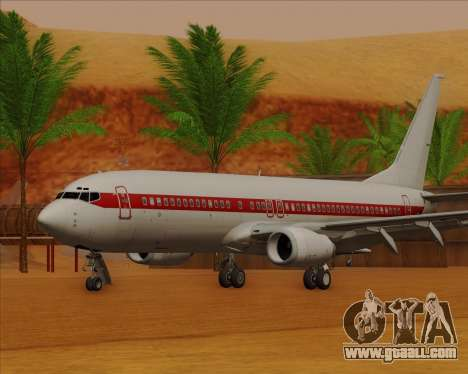 Boeing 737-800 EG&G - Janet for GTA San Andreas left view