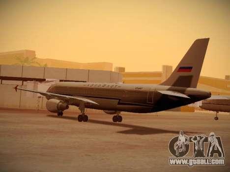 Airbus A320-214 Aeroflot Retrojet for GTA San Andreas right view