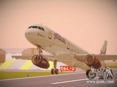 Airbus A321-232 jetBlue I love Blue York for GTA San Andreas left view