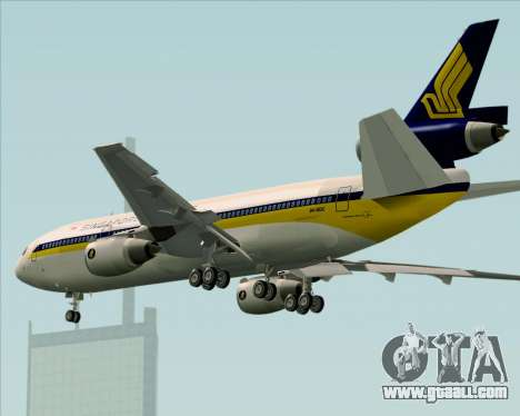 McDonnell Douglas DC-10-30 Singapore Airlines for GTA San Andreas upper view
