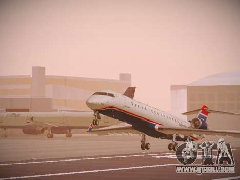 Bombardier CRJ-700 US Airways Express for GTA San Andreas left view