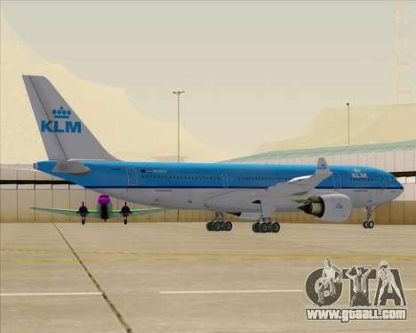 Airbus A330-200 KLM - Royal Dutch Airlines for GTA San Andreas wheels