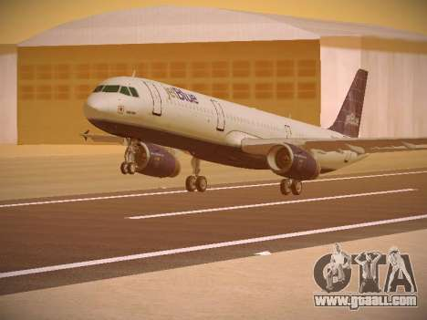 Airbus A321-232 jetBlue Batty Blue for GTA San Andreas left view