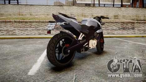 Bajaj Pulsar 200NS 2012 for GTA 4 back left view