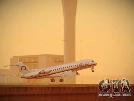Bombardier CRJ-700 Horizon Air for GTA San Andreas back view