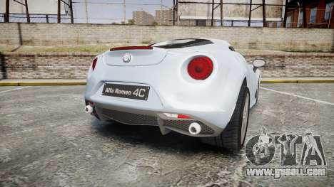 Alfa Romeo 4C for GTA 4 back left view