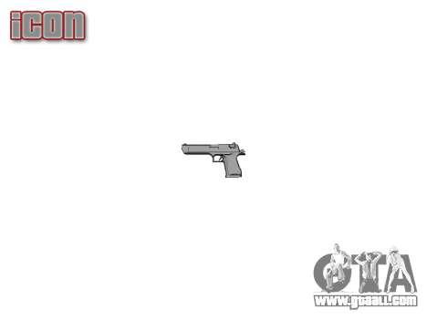 Gun IMI Desert Eagle Mk XIX Gold for GTA 4 third screenshot