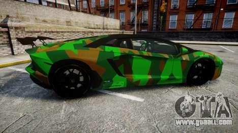 Lamborghini Aventador LP760-4 Camo Edition for GTA 4 left view