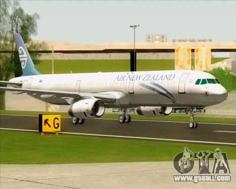 Airbus A321-200 Air New Zealand for GTA San Andreas left view