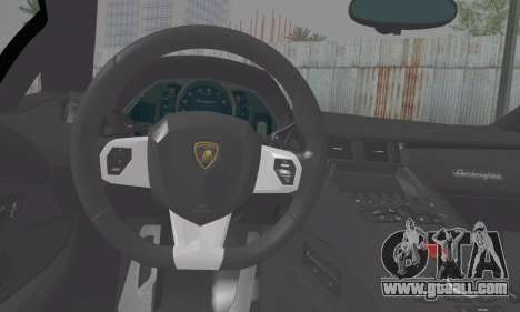 Lamborghini Avendator LP700-4 2012 for GTA San Andreas back left view