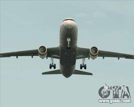 Airbus A320-200 Tigerair Australia for GTA San Andreas upper view