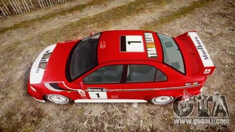 Mitsubishi Lancer Evolution VI Rally Marlboro for GTA 4 right view