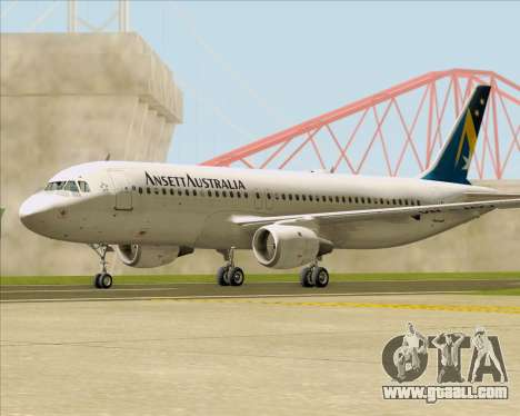 Airbus A320-200 Ansett Australia for GTA San Andreas right view