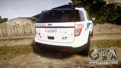 Ford Explorer 2013 PS Police [ELS] for GTA 4 back left view