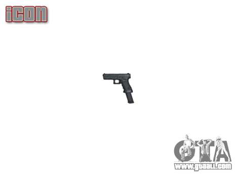 Pistol Glock 18 for GTA 4 third screenshot