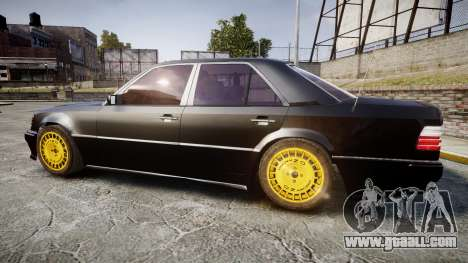 Mercedes-Benz E500 1998 Tuned Wheel Gold for GTA 4 left view