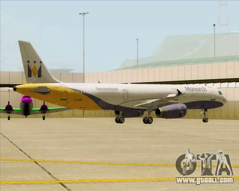 Airbus A321-200 Monarch Airlines for GTA San Andreas