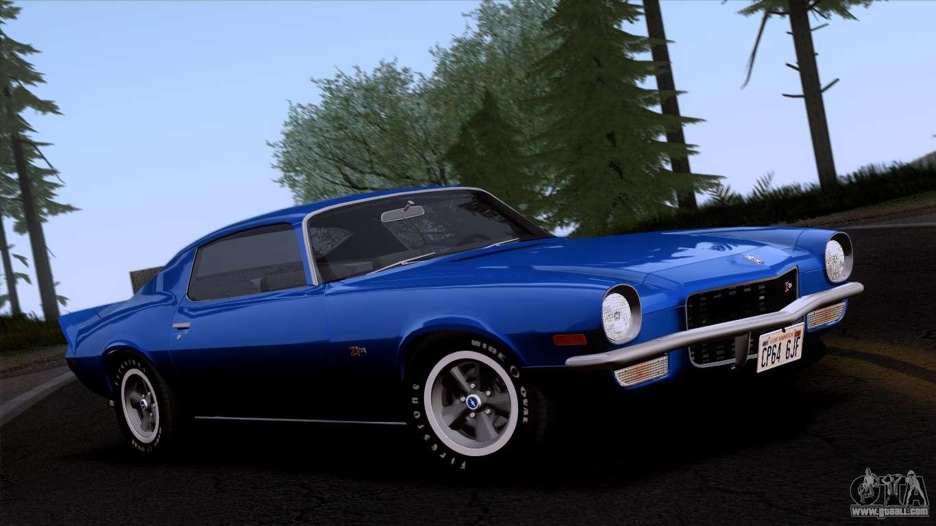Chevrolet Camaro Z28 1970 Imvehft For Gta San Andreas
