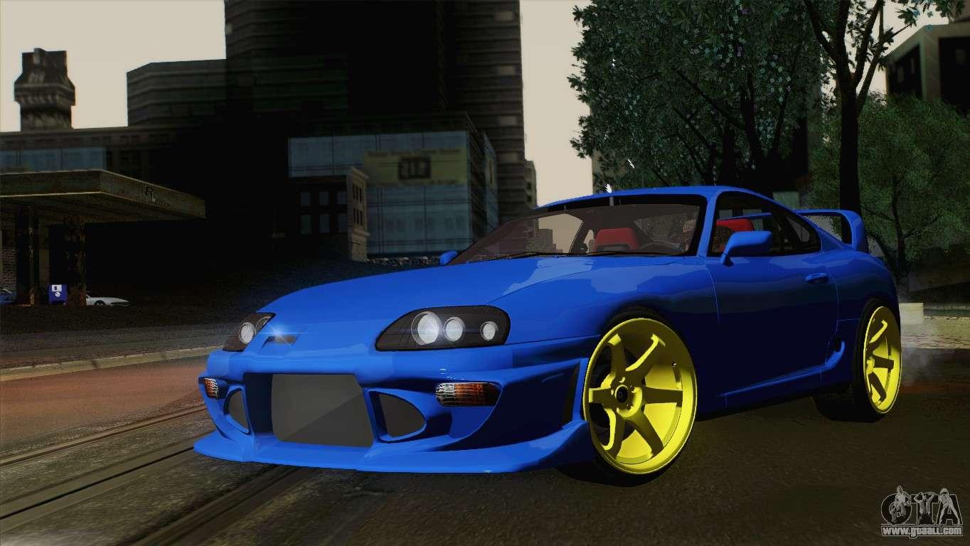 7 Passenger Vehicles >> Toyota Supra Twin Turbo for GTA San Andreas