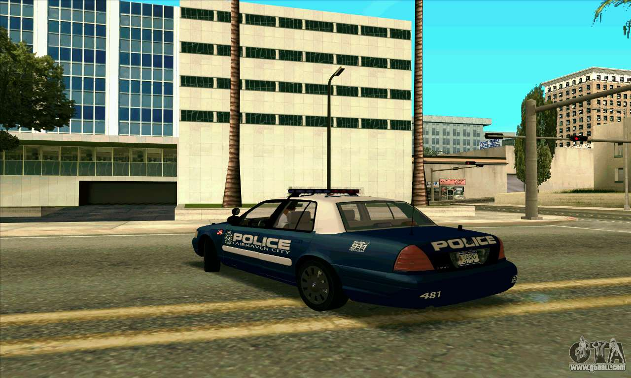 Fcpd Ford Crown Victoria For Gta San Andreas Left View