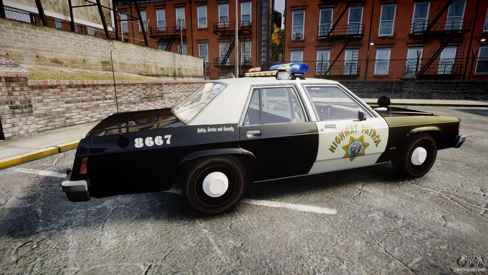 ford ltd crown victoria 1987 police chp1 els for gta 4. Black Bedroom Furniture Sets. Home Design Ideas
