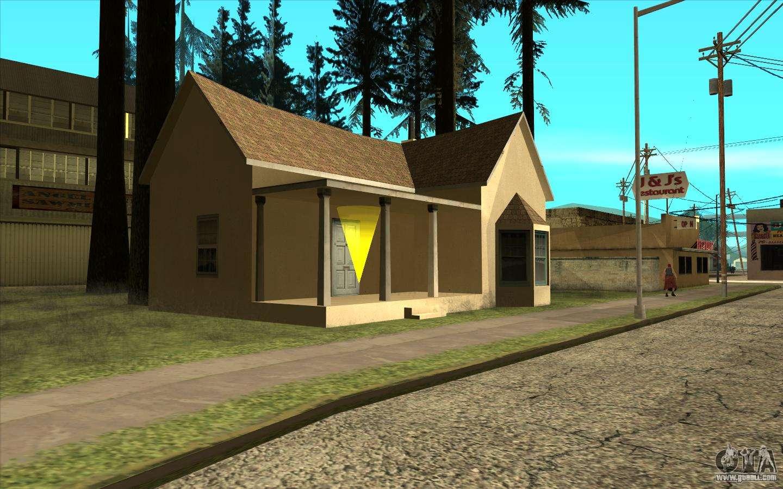 New cj house in angel pine for gta san andreas for Casa moderna gta sa