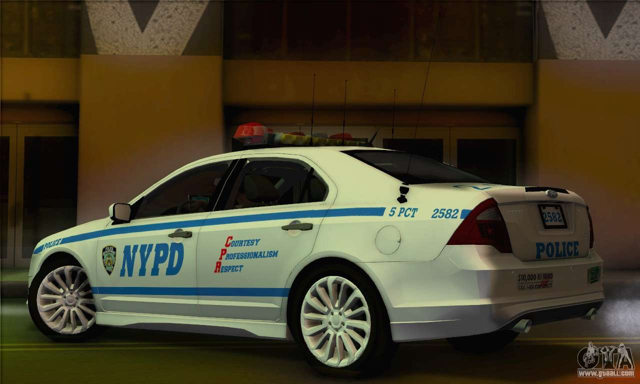 Ford fusion nypd v2 0 for gta san andreas left view