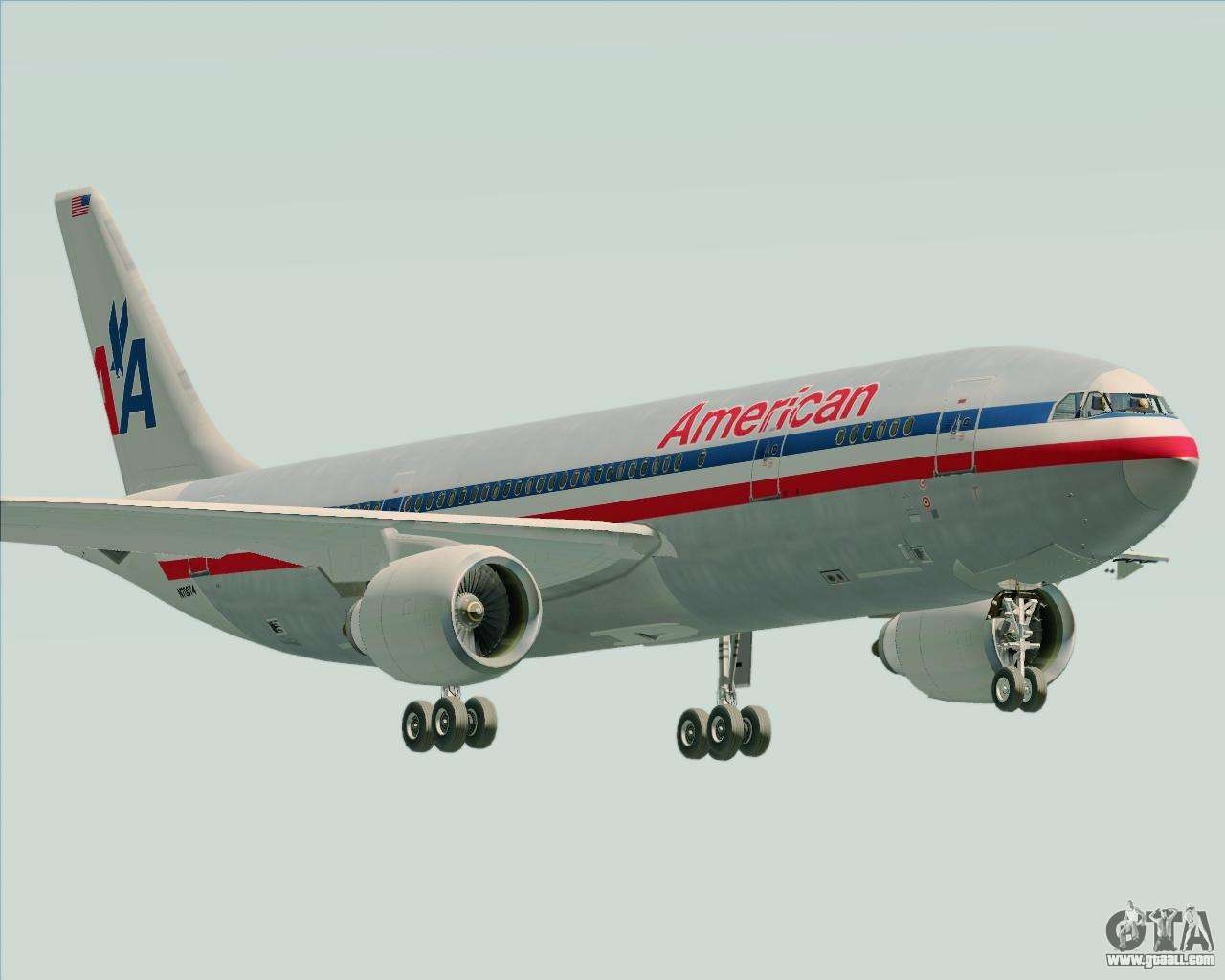 Airbus A300 600 American Airlines For Gta San Andreas
