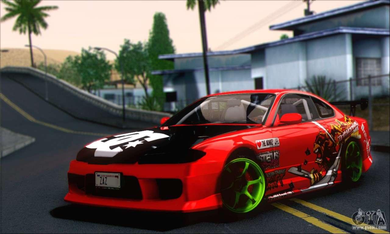 Nissan Silvia S15 Team Drift Monkey For Gta San Andreas