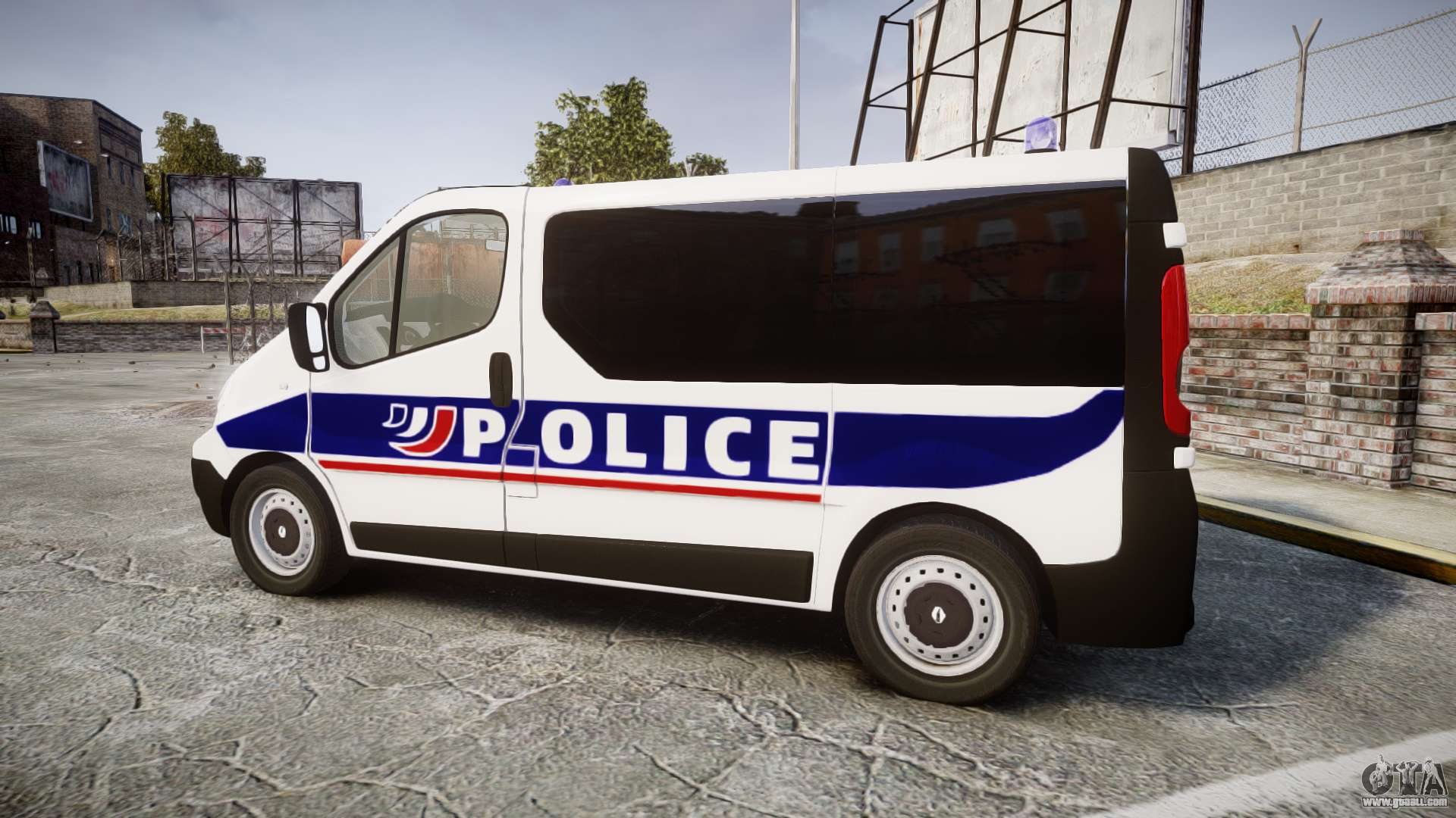 Renault trafic police nationale for gta 4 for Interieur de voiture
