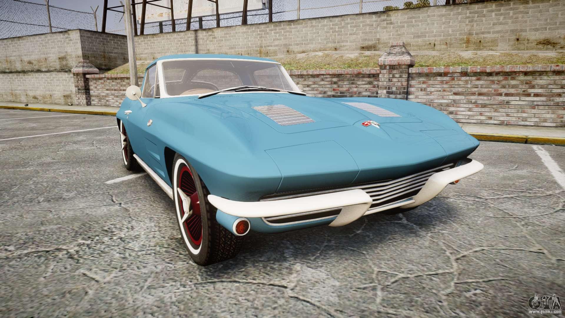 Chevrolet Corvette Stingray 1963 v2 0 for GTA 4