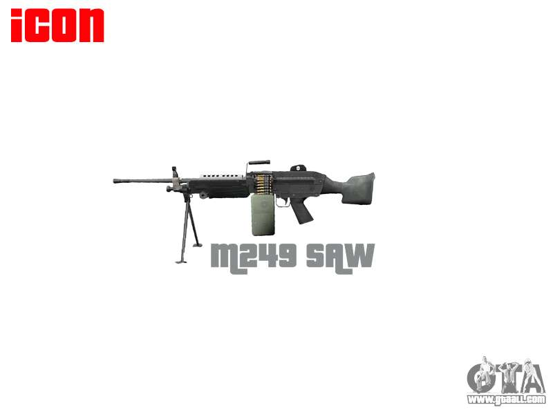 Machine Gun Icon Light Machine Gun M249 Saw For