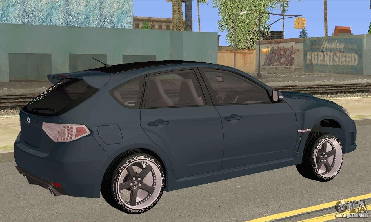 2014 Subaru Wrx Sti Hatchback >> Subaru Impreza WRX STI 2008 for GTA San Andreas
