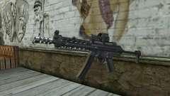 Silver MP5 for GTA San Andreas