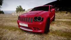 Jeep Grand Cherokee SRT8 license plates